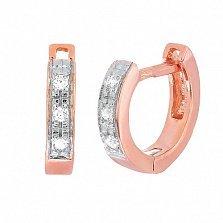 Позолоченные серебряные серьги с цирконием Имтисаль
