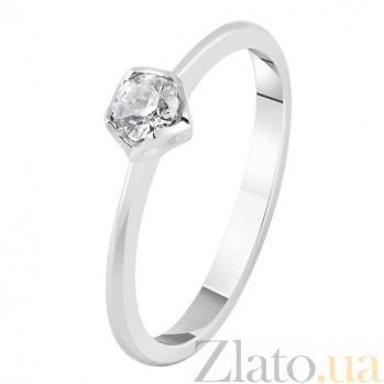 Золотое кольцо с бриллиантом Нить любви KBL--К1915/бел/брил