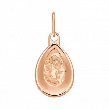 Ладанка Божья матерь с младенцем из красного золота 000106162