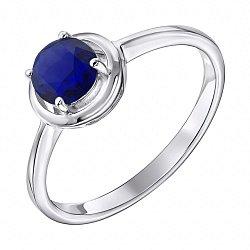 Серебряное кольцо с сапфиром 000137270