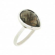 Серебряное кольцо с раухтопазом Римма
