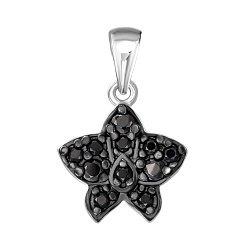 Серебряная подвеска в комбинированном цвете с цирконием 000140684
