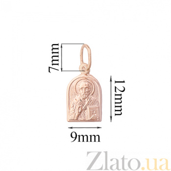 Золотая ладанка Св.Николай TNG--100521