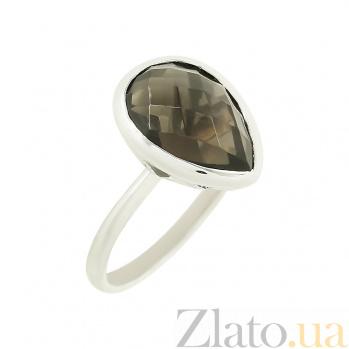 Серебряное кольцо с раухтопазом Римма 3К106-0024/A11В01F17