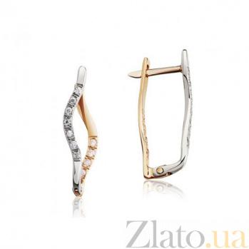 Золотые сережки Идан EDM--С0245