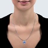 Подвеска серебряная с кристаллом Swarovski Сердце