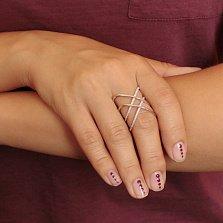 Серебряное кольцо Орбиты с цирконием