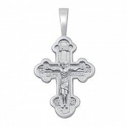 Православный серебряный крестик 000130843