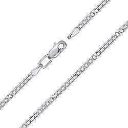 Серебряный браслет в якорном плетении 2мм 000132738
