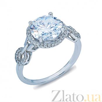 Кольцо из серебра с цирконами Мириам AQA--R0936