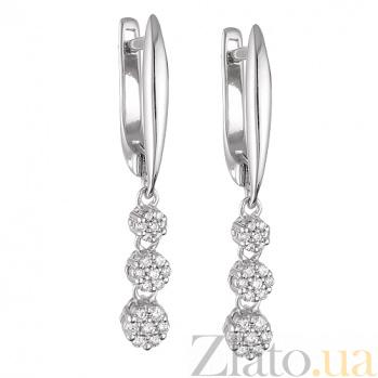 Серьги из белого золота с бриллиантами Франческа SVA--2101269202/Бриллиант