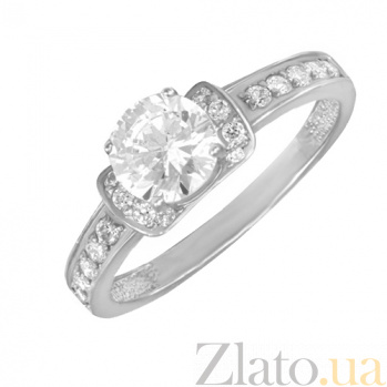 Кольцо в белом золоте Индира с фианитами 000022901
