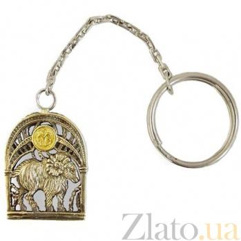 Серебряный брелок Знак зодиака Овен 925/овен