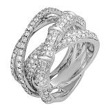 Кольцо из белого золота с бриллиантами Айседора