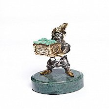 Серебряная статуэтка с позолотой Гном