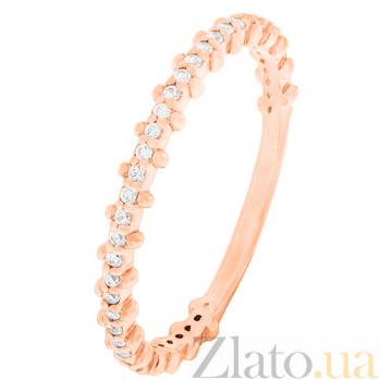 Золотое кольцо с фианитами Британия 000022954