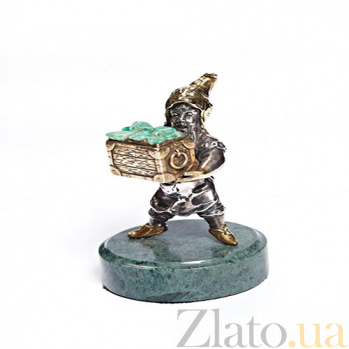 Серебряная статуэтка с позолотой Гном 170