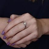 Серебряное кольцо с жемчугом Мария