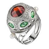 Серебряное кольцо с фианитами Шахерезада
