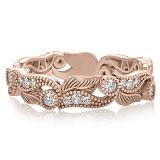 Кольцо из розового золота с бриллиантами Долина грез: Роса на цветах