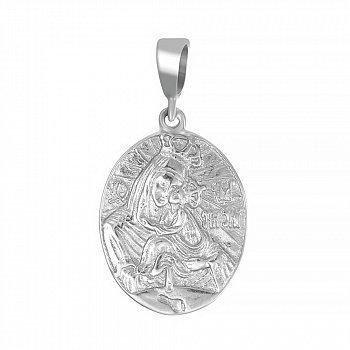Серебряная ладанка Божья Матерь Почаевская 000025349