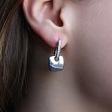 Серебряные серьги с бриллиантами Милос