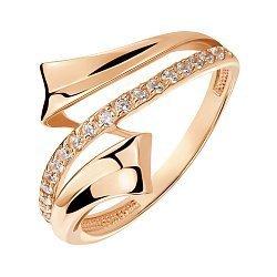 Кольцо из красного золота с фианитами 000141409