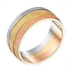 Обручальное кольцо из красного, белого и желтого золота 000133556