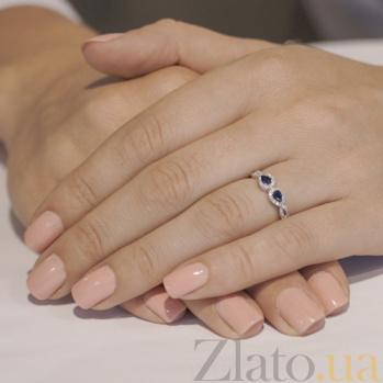 Золотое кольцо Меланта с сапфирами и бриллиантами SG--36117390