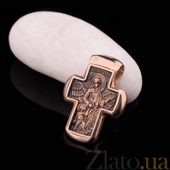 Золотой крест с чернением Победа над смертью ONX--п01614