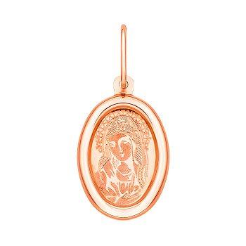 Золотая ладанка в красном цвете Похвала Пресвятой Богородицы 000059037