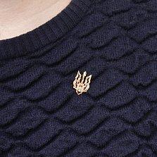 Золотая брошь-шпилька Гетьман в виде узорного герба Украины