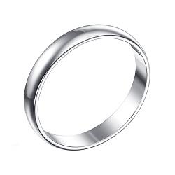 Обручальное кольцо из белого золота Взаимность