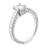 Золотое кольцо Titania в белом цвете с бриллиантами