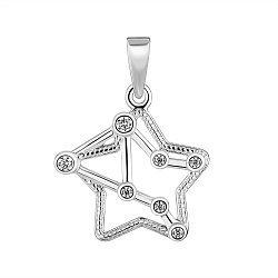 Подвес из серебра Знак Зодиака Весы с фианитами 000148209