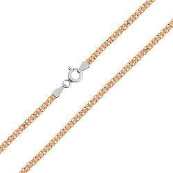 Серебряная цепь с позолотой, 3 мм 000026104