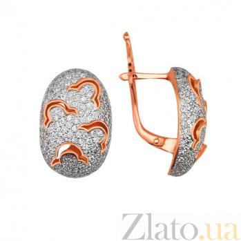 Серьги из красного золота с цирконием Анабель VLT--ТТ291-2