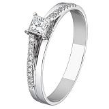 Кольцо из белого золота с бриллиантами Истина