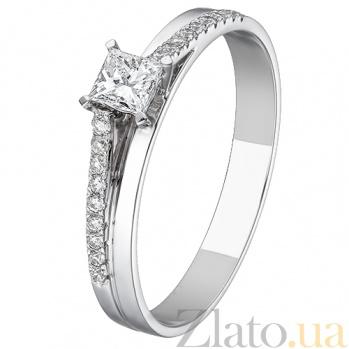Кольцо из белого золота с бриллиантами Истина  KBL--К1177/бел/брил