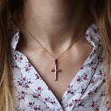 Золотой крестик Вечность