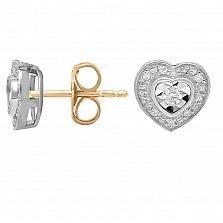 Серьги из золота Верность с бриллиантами