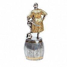 Серебряная штрафная рюмка Казак на бочке