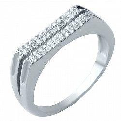 Серебряное кольцо Винсентия с фианитами
