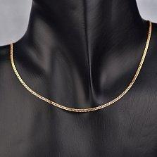 Золотая цепочка Статус в красном цвете плетения ромб с алмазной гранью, 2мм