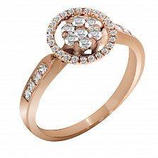 Кольцо из красного золота Вирджини с бриллиантами