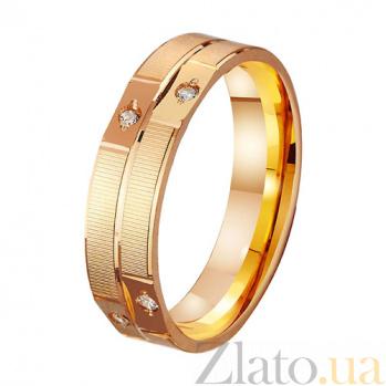 Золотое обручальное кольцо Идеальная пара с фианитами TRF--412162