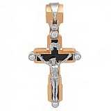 Золотой крест с агатом и бриллиантами Послание свыше