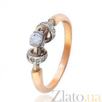 Золотое кольцо с цирконием Нежность EDM--КД0368