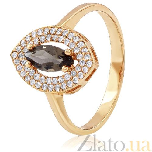 Купить золотое кольцо есения с раухтопазом и фианитами 000036728 в ... 18ca6fef2a23c