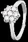 Серебряное кольцо с фианитами Мимоза 000025764